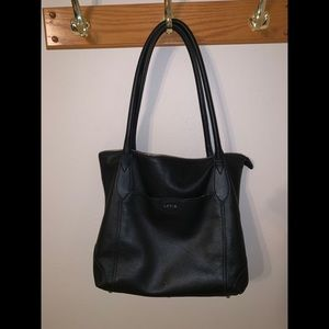 Lodis Sierra Leather shoulder tote bag